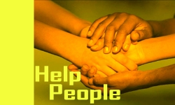 """Helping hands of group of people"""